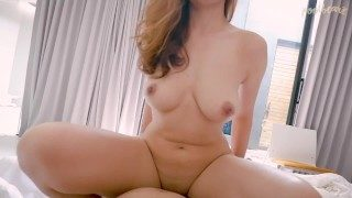 SEE! PERFECT BODY ASIAN TEEN IN WHITE SEXY DRESS GET CREAMPIE